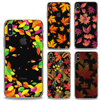 Estilo de Padrão Pintado de Alta Qualidade Cool Gel Soft TPU Silicone Phone Case Back Cover Maple Leaf Celular Para Iphone 8 Iphone 7 / 7plus