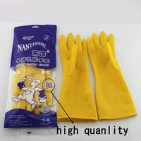 Wholesale Cheapest Window Screens - Latex Soft Thick Rubber Kitchen Household Working Winter Washing Gloves Kitchen Wash Dishes Cleaning Waterproof Tool Cheapest