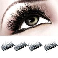 Wholesale 3d Eyelash Extensions Wholesale - Magnetic Eye Lashes 3D Mink Reusable False Magnet Eyelashes Extension 3D Eyelash Extensions Magnetic Eyelashes Makeup Tool 2805121
