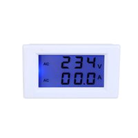 Wholesale Display Digital Ac - New Digital LCD Voltage Meter Ammeter Voltmeter with Current Transformer AC80-300V 0-100A Dual Display Free Shipping