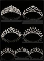 2021 Trendy 10 Styles Cheapest Shining Rhinestone Crown Girls' Bride Tiaras Fashion Crowns Bridal Accessories For Wedding Event
