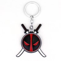 Wholesale Weapon Keyring Keychain - Brand New Anime Deadpool Keychain For Men Trinket Llavero Car Keyring Weapon Key Chain Ring Chaveiro Jewelry Gift Souvenirs