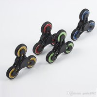 Wholesale triangle fidget spinner for sale - Triangle Gear Finger Toys Four Teeth Linkage Mute Rotation Fidget Spinner Reliever Press Hand Spinners For Adults Kids Funny yl B