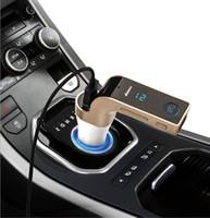 bluetooth lcd ekranı toptan satış-FM Verici ile Çok İşlevli 4-in-1 ARABA Bluetooth USB MP3 Çalar ile flash sürücüler TF Radyo Verici LCD Ekran USB Mic