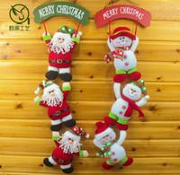 weihnachtsschnee weihnachtspuppen großhandel-Weihnachtshänger Puppe Weihnachtsmann Spielzeug Schneemann Puppen Weihnachtsdekoration Weihnachtsbaum Hängende Ornamente Anhänger Weihnachtsgeschenk