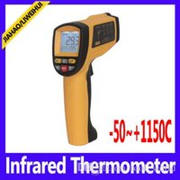 Wholesale Infrared Temp - laser temp gun Non-contact Infrared Thermometer With LCD Backlight termom GM1150 Range -50~1150C