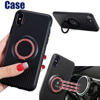Wholesale I Phone Casing - For iphone X iphone 8 Plus iphone 10 New iface TPU Full Cover Case For i phone 7 Magnetic Car Holder Cellphone Case