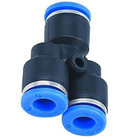 """Wholesale pneumatic push fittings - Y Union 10mm3 8"""" Splitter Pneumatic Connector Push In Fitting Air Hose Tube B00377"""