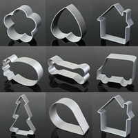 Vente en gros - Star Tree Shape Aluminium Biscuit Moule Bake Ware Fondant Cake Moule DIY Sugar Craft 3D Pâtisserie Cookie Cutters