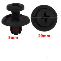 Wholesale Fender Splash - New 50   100pcs Car Fastener 8mm Hole Black Plastic Rivet Retainer Clips for Splash Guard Panel Hood Fender Bumper for Honda Universal