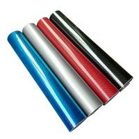 vinyl-film kohlenstoff 3d rot großhandel-Car Styling 200mmX1520mm 5D Carbon Fiber Vinyl Film hochglanzwarp Motorrad Auto Aufkleber Zubehör Wasserdichte Autos