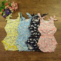 Wholesale Ems Diaper - 2016 INS baby girl toddler swan lace tassels cotton romper onesie diaper cover by DHL or EMS