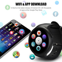 I4 Plus Smart Watch Android 5.1 MTK 6580 1.3GHz GPS GPS frequenza cardiaca WiF Google Play Mappa Navigare RAM 1GB ROM 16GB
