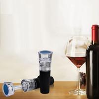 ingrosso bottiglia a vuoto tappo vino sigillato-KitchenBar acrilico Wine Stoppers gel di silice Vuoto Sigillato Conservazione birra da vino Coperchio Tappo Chiusure Tappi di bottiglia