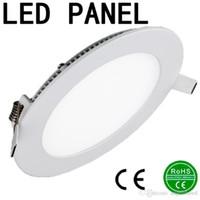 Wholesale High Lumen Led Recessed Lighting - High Lumen 3W 6W 9W 12W 15W 18W 24W White LED panel light 110-240V Led Ceiling Recessed down lamp