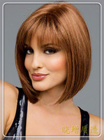 Wholesale blonde Short Wig Women s Cute Fringe Straight Bob Cosplay Wig Heat Resistant Full Hair Blonde Short Wig