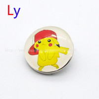 Other black character pokemon - Lovely Pikachu Poke Balls noosa jewelry glass snap button for noosa chunks Cabochon Charm Bracelets Bangles snap pendant jewelry YD0226