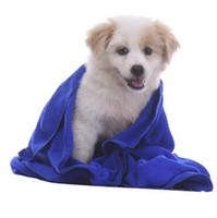 lieferungen für die reinigung großhandel-40 * 60 cm Heimtierbedarf Mikrofaser Hundetuch Trockentücher Mode Haustier Badetücher Hypoallergen Chemikalie Freies Reinigungstuch CCA6958 100 stücke