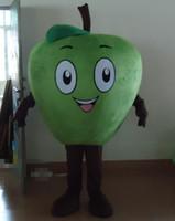 visión de las manzanas al por mayor-SX0724 Buena visión y buena ventilación. Un disfraz de mascota de manzana con ojos grandes para que los adultos usen.