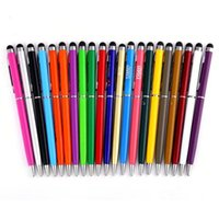 Wholesale Capacitive Multi Touch Screen Stylus - 2 in 1 Multi function Capacitive Touch Screen Writing Stylus Ball Point Pen for Smart Cell Phone Tablet PC