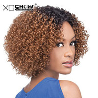 Wholesale cheap ombre human hair - Afro Kinky Curly Weave 2 Tone Ombre Hair 1B 30 2PCS Brazilian Hair Weave For Women Remy Human Hair Bundles Cheap Hair Extensions