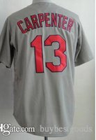 Baseball Trikots # 15 Matt Carpenter Weiß Jersey 2015 Günstige Trikots Authentic Genäht Cool Base Jersey Großhandel