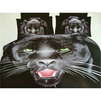 Wholesale Cotton Leopard Sheets - Black Leopard Bedding Sets for Men Home Textile Gift, Animal Sanding Quilt Duvet Cover Flat Sheet Pillowcase Set, Fits for 1.8m Bed