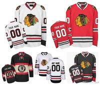Wholesale Hockey Jerseys Sizes - Customized Men Chicago Blackhawks Jerseys Custom Stitched Any Name Any Number Ice Hockey Jersey,Authentic Jersey Embroidery Logos Size 46-56