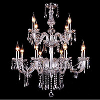 Wholesale lighting glass globe for sale - Group buy Noble Luxurious Export K9 Clear Crystal Chandelier lights glass globe light pendant light Optional Lustres De Cristal Chandeliers