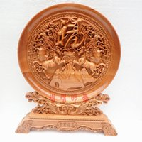 carving wood spirits - Peach wood carving ornaments quot send a blessing round two auspicious ornaments Home Furnishing evil spirits transfer