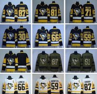 Compra Pittsburgh New Jersey-2017 2018 New Season Hockey su ghiaccio 66 Mario Lemieux Jersey Pittsburgh Penguins 59 Jake Guentzel 30 Matt Murray 87 Sidney Crosby 81 Phil Kessel