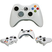 Wholesale New Games Xbox - New Xbox 360 White Black Wireless Game Remote Controller for xbox Laptop computer PC Games with retail box