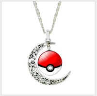 Wholesale Cheap Xmas Toys - 7 Colors Poke Go Necklace Vintage Retro Time Gemstone Ball Fashion Pendant Necklace Jewelry Cheap Discount Gifts XMas Free Shipping
