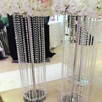 Wholesale meters set of high grade a class crystal bead curtain wedding garland decoration bead curtain activities show bead curtain