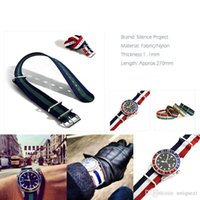 Wholesale 22mm Nylon Watch Strap - Fashion Nylon Wrist Watch Band Buckle Straps Mens 8 Colors 22mm