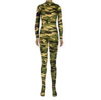 Wholesale Sexy Lycar - Sales one pieces Brown Leopard zebra Tiger stripes Tiger Zentai catsuit Costumes sexy women Lycar Spandex Halloween Famale Costumes Cosplay