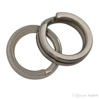 Wholesale Walleye Lures - F6056-2 5-14mm 200 pcs Stainless Steel Split Rings for Blank Lures Crankbait Hard Bait For Each Pack Bass Walleye Fishing ring