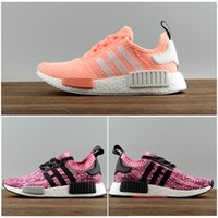 2017 Hot Sale New NMD R1 Running Shoes Alta qualidade Mulheres Red wine Pink Nmds Runner R1 Sneakers sports shoes us 5-7.5