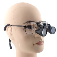 Wholesale Dental Surgical Binocular Loupes - 2.5X 360-460mm Magnifier Dental Loupes Glasses Dentist Surgical Medical Binocular Optical Metal Frame Magnification Glasses