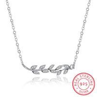 Wholesale Zircon Gemstone Necklace - Christmas Chain Necklace Sterling Silver White Cubic Zircon Crystal Gemstone Genuine Women Genuine Jewelry Free Shipping SVN115