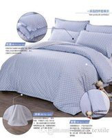 Wholesale Wholesale Comforters Sets - brand king Size Bedding set cotton blue polka dot Sheet Pillowcases Duvet Cover
