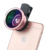 weitwinkel-objektiv-kit großhandel-Wholesale-3 in 1 HD-Telefon-Kamera-Objektiv-Kit für Weitwinkel + Makro + 12X Zoom-Teleskop-Objektiv mit Clip für Smartphone