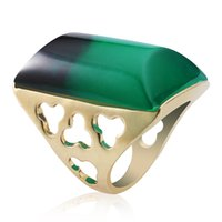 Wholesale Black Costume Jewelry Rings - Hot sales green black changing color ring couple rings costume fashion jewelry flat rings of metal crossword clue