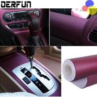 Wholesale Vehicle Vinyl Wrap Red - 3D Carbon Fiber Vinyl Film 3M Car Sticker Waterproof DIY Auto Vehicle Car Styling Wrap Roll Car Styling Free Shipping