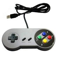usb snes gamepad großhandel-Super Game Controller SNES USB Classic Gamepad für PC-MAC-Spiele für Windows 98 / ME / 2000/2003 / XP / Vista / Windows 7/8 / Mac OS
