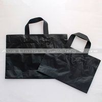 Wholesale Plastic Suit Bags - 40*30cm 35*25cm 30*20cm low-pressure back large capacity market shopping carry bags  black plastic grocery carry handle bags