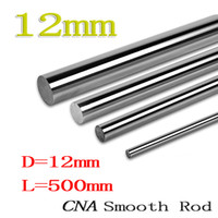 Wholesale 12mm Linear - Wholesale- 1pcs lot WCS12 12mm 500mm Linear shaft round rod L500mm for CNC parts XYZ WCS12 L500mm