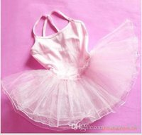 Wholesale Toddler Girl Ballet Leotards - Girls Tutu Dresses Toddler Girls Clothing Ballet Leotard Dress Tutu Little Girls Camisole Ballet Dance Dress Attched Tutu Dress Dancewear