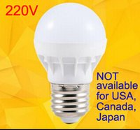 Wholesale E27 Light Bulb Energy Saving - LED Bulbs E27 Globe Bulbs Lights 3W SMD2835 LED Light Bulbs Warm White Super Bright Light Bulb Energy-saving Light 220V 230V 240V