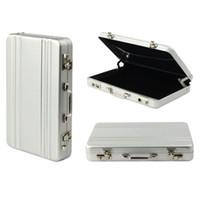 Wholesale Metal Case Aluminium Gift Box - Mini Briefcase Business Credit Card Case ID Holders Password Silver Aluminium Card Holder Case Box Halloween Gifts